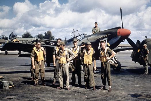 US pilots training to fly the North American A-36A Apache, Louisiana, 1943 (US Army Air Force photo)