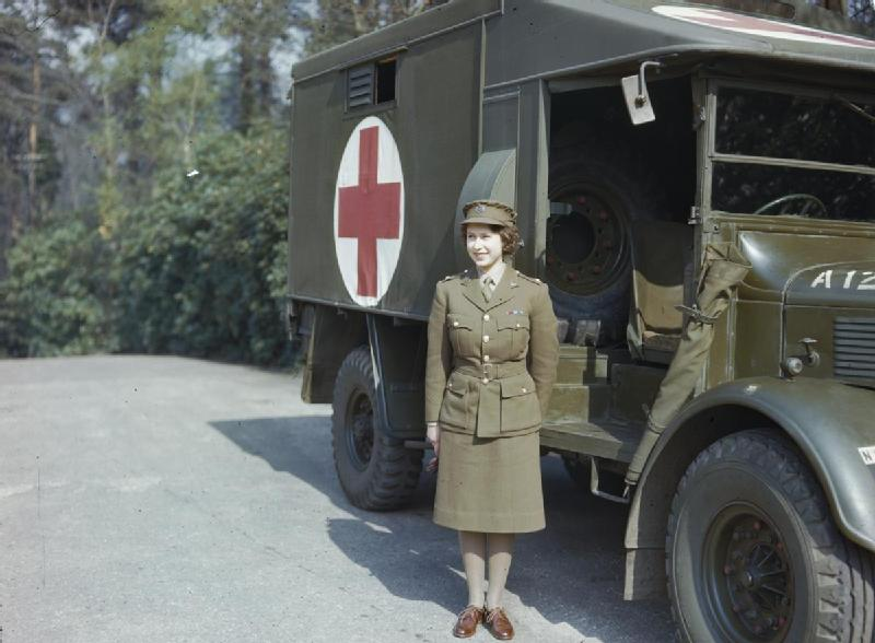 Princess Elizabeth, 2nd Subaltern in the Auxiliary Territorial Service, April 1945 (Imperial War Museum)