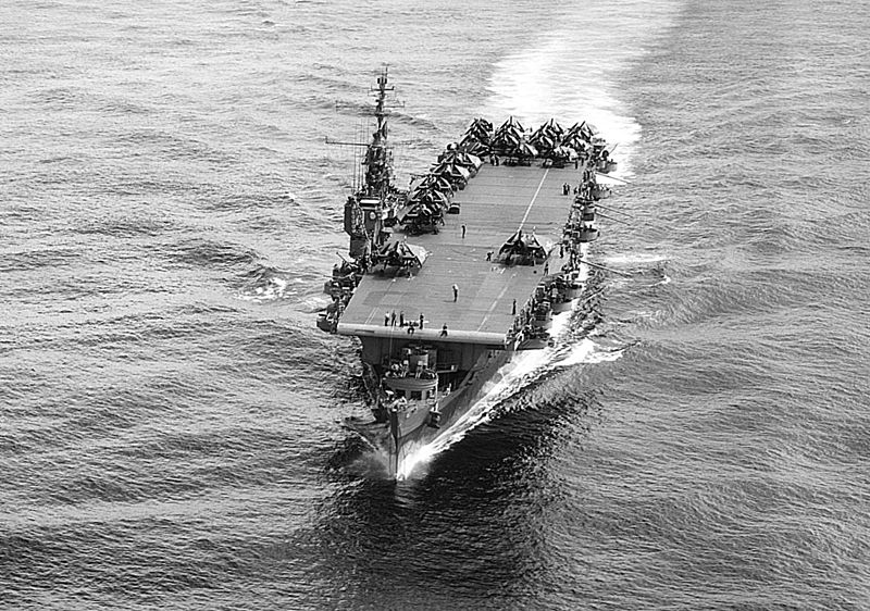 Light carrier USS Cowpens, 1945 (US National Archives)