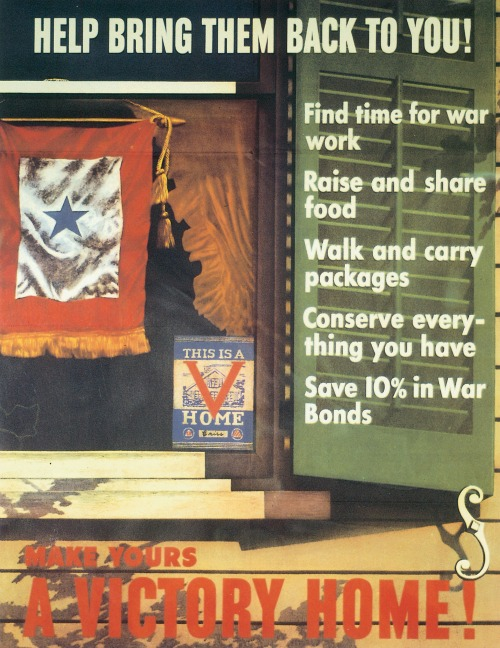 US poster for the Victory Home campaign, WWII