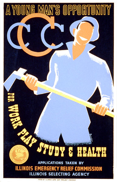US Civilian Conservation Corps poster, 1935