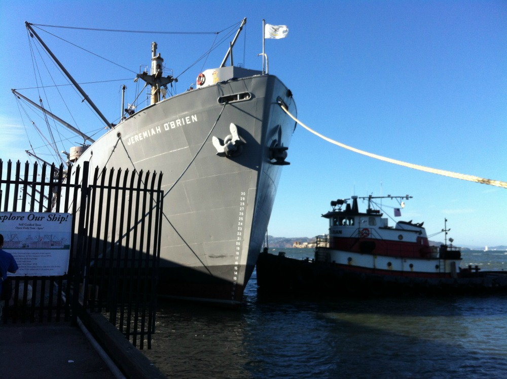 Liberty Ship SS Jeremiah O'Brien, San Francisco, CA, Fleet Week, October 2014 (Photo: Sarah Sundin)