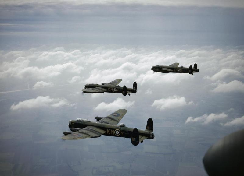 Avro Lancaster bombers of RAF No.44 Squadron, 29 September 1942 (Imperial War Museum: TR 197)