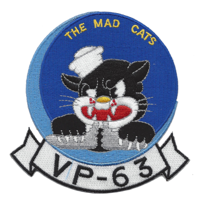 Patch of US Navy Squadron VP-63, the Mad Cats