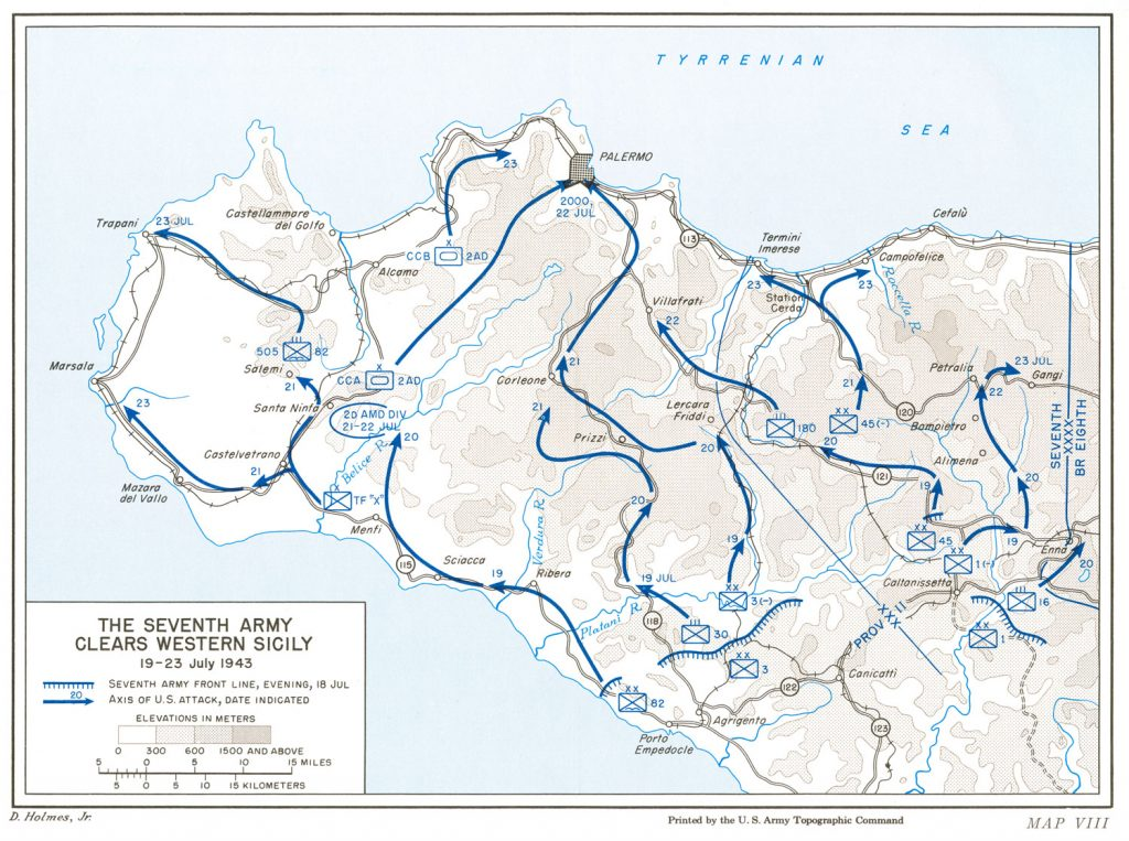 US Seventh Army Clears Western Sicily, 19-23 July 1943 (US Army Center of Military History)