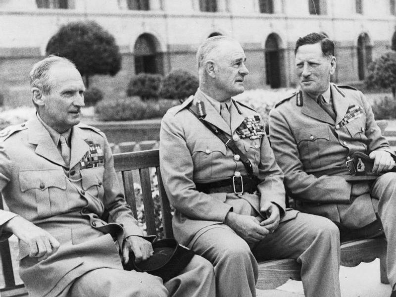 Bernard Montgomery, Archibald Wavell, Claude Auchinleck, 1946 (Imperial War Museum: 4700-38)