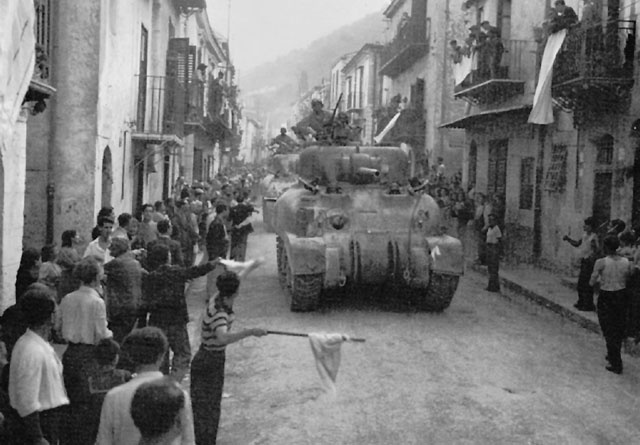 US 2nd Armored Division enters Palermo, Sicily, 22 July 1943 (US Army Center of Military History)