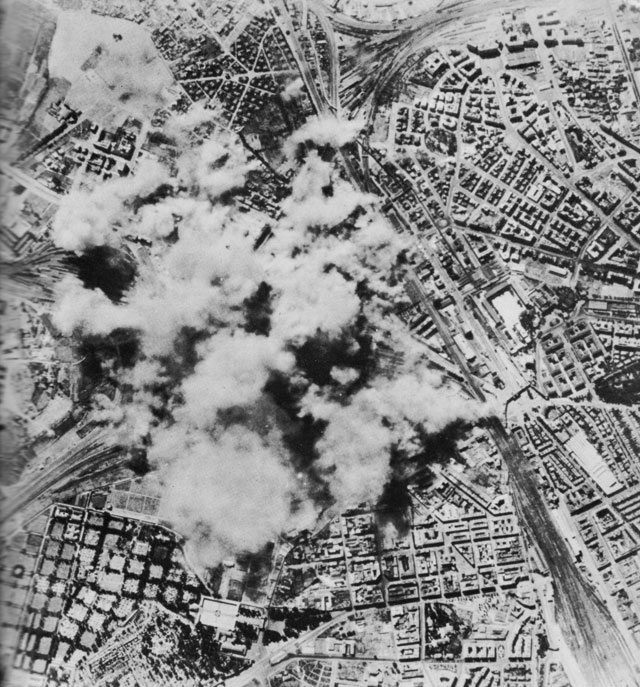 First US Army Air Force bombing of Rome, 19 July 1943 (US Army Air Force photo)