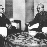 Subhash Chandra Bose and Hideki Tojo, Tokyo, Japan, 10 Jun 1943 (public domain via WW2 Database)