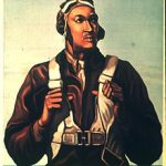 US War Bond poster promoting the Tuskegee Airmen, WWII