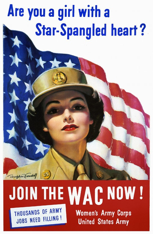 Recruiting poster for US Women's Army Corps, WWII