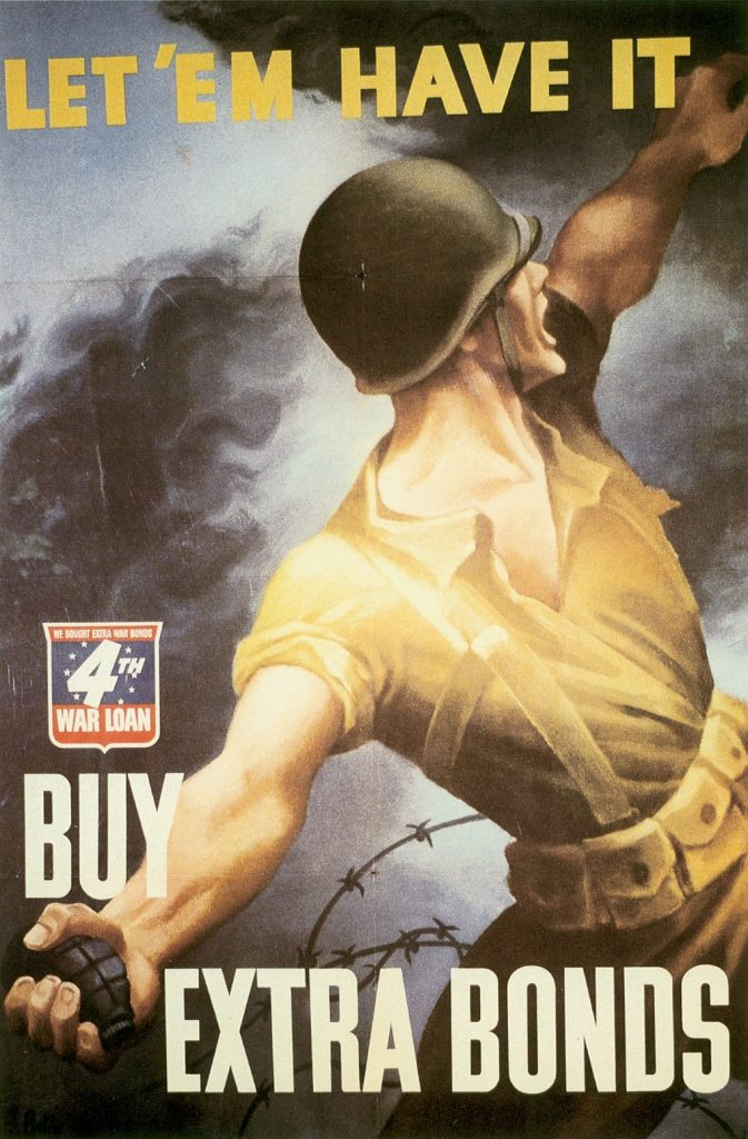 Poster from the US 4th War Loan Drive, 1944