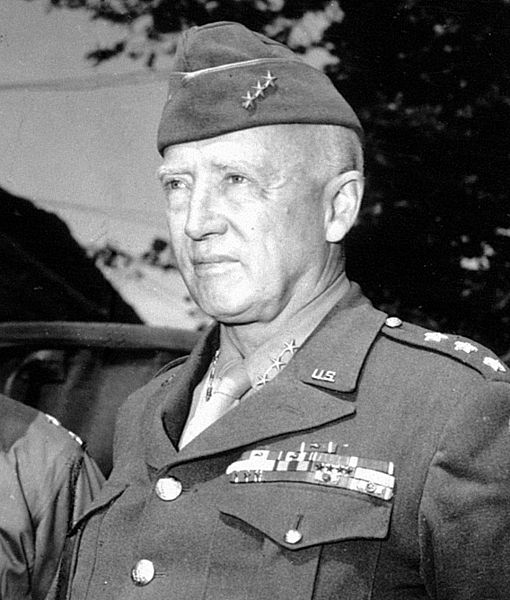 Lt. Gen. George Patton, France, 7 Jul 1944 (US Army Signal Corps photo)