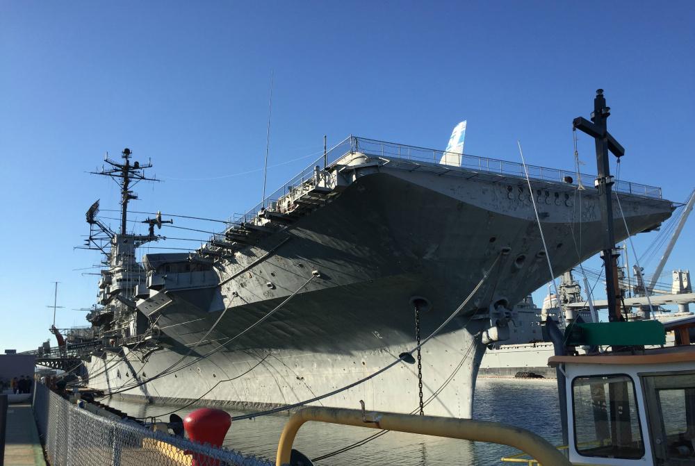 Aircraft carrier USS Hornet, Alameda, CA (Photo: Sarah Sundin, November 2015)