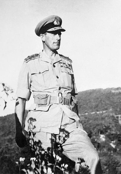 Adm. Lord Louis Mountbatten, Arakan Front, Burma, February 1944 (Imperial War Museum)