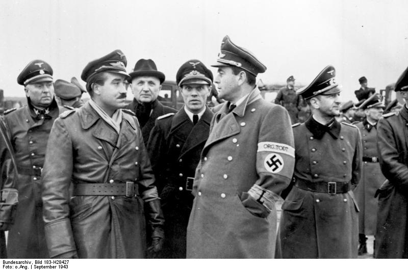 Maj. Gen. Adolf Galland and Albert Speer, September 1943 (German Federal Archive: Bild 183-H28427)