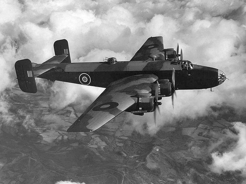 RAF Handley Page Halifax Mk 3 heavy bomber (British government photo)