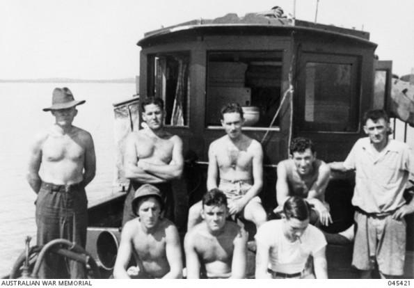 Australian commandos and crew of MV Krait en route to Singapore, September 1943 (Australian War Memorial: 045421)