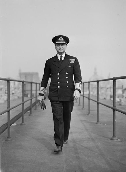 Adm. Sir Bertram Ramsay, Allied Naval Commander-in-Chief of the Expeditionary Forces, at his London Headquarters at Norfolk House, 1944 (Imperial War Museum)