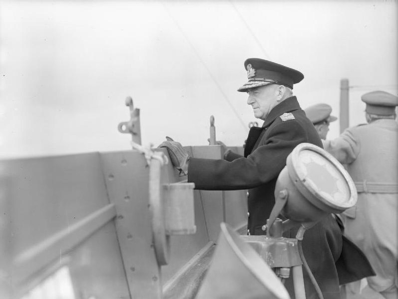 First Sea Lord Admiral of the Fleet Sir Dudley Pound on Queen Mary en route to Québec Conference, 1943 (Imperial War Museum A 16722)