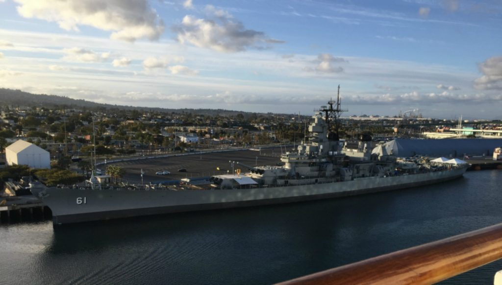 Battleship USS Iowa, Long Beach, CA, February 2018 (Photo: Sarah Sundin)