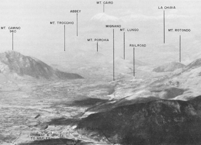 Mignano Gap in Italy, WWII (US Army Center of Military History)