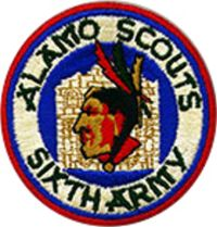 Patch of the Alamo Scouts, US Sixth Army, WWII