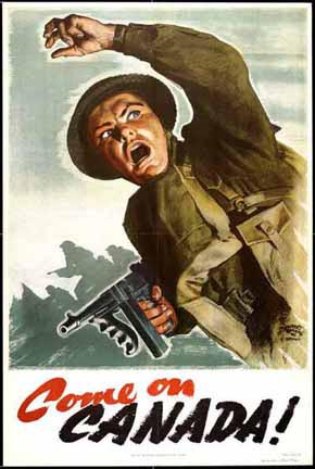 Canadian recruiting poster, WWII