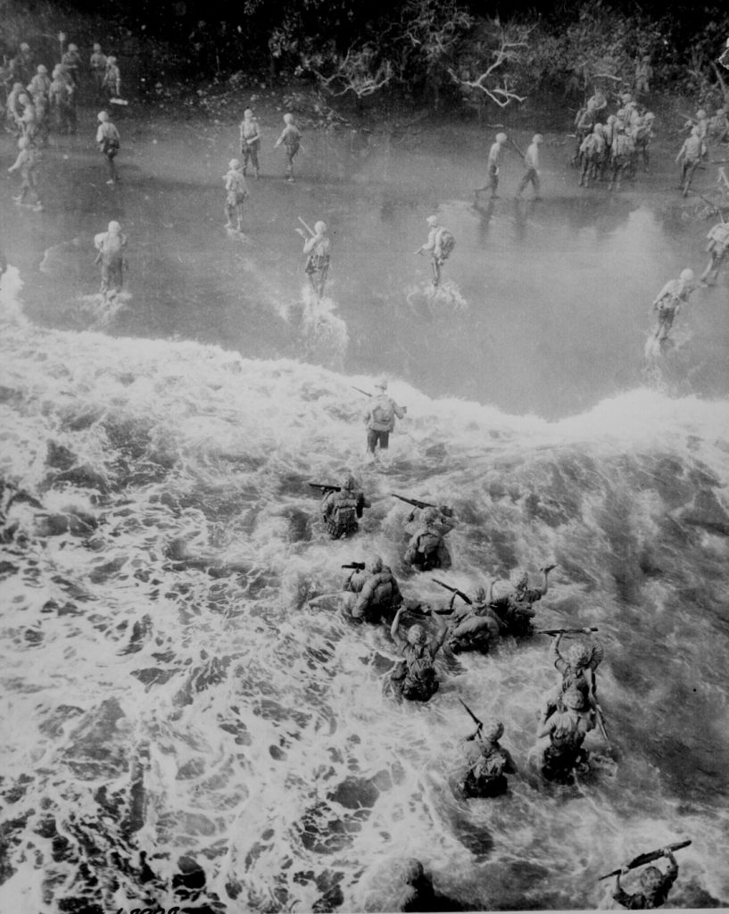 US Marines landing at Cape Gloucester, New Britain, 26 December 1943 (US National Archives)