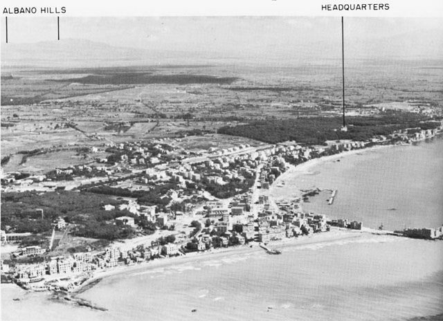 Anzio town, looking south toward Nettuno (US Army Center of Military History)