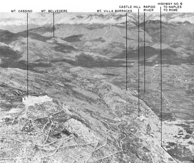 The Cassino area of Italy, WWII (US Army Center of Military History)