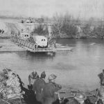 British X Corps shuttling ambulances across the Garigliano River, January 1944 (US Army Center for Military History)