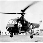 Cdr. Frank Erickson, USCG & Dr. Igor Sikorsky, Sikorsky Helicopter HNS-1 C.G. #39040, 14 August 1944 (US Coast Guard photo)