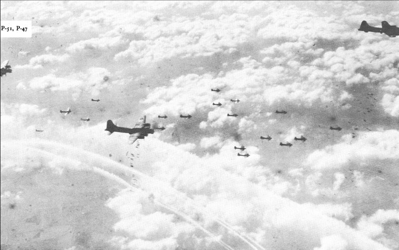 US Eighth Air Force B-17s bombing Berlin, 1944 (USAF photo)