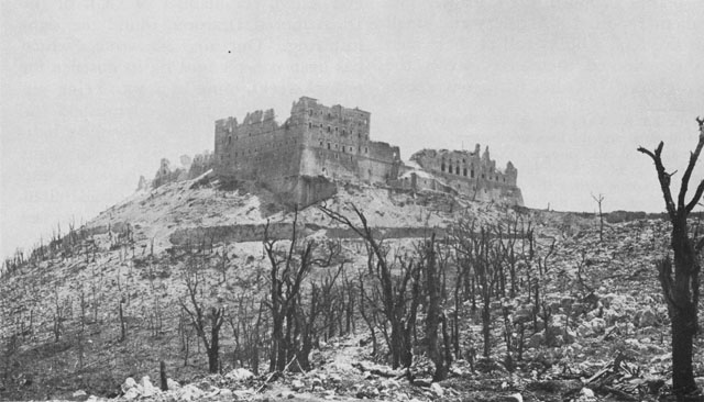 Ruins of Abbey of Monte Cassino, 1944 (US Army Center of Military History)
