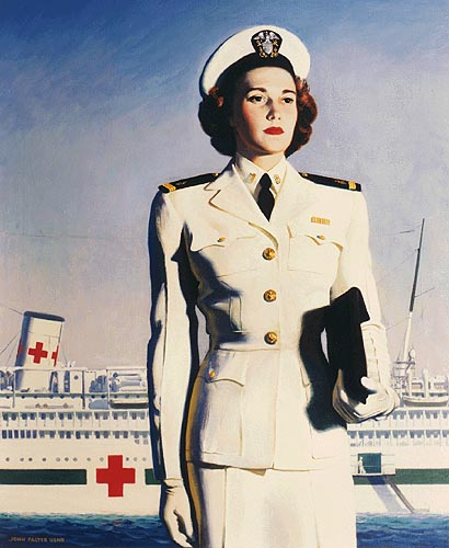 Poster for the US Navy Nurse Corps, WWII (US Naval History & Heritage Command)