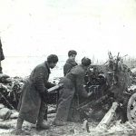 Soviet artillerymen firing at German fortifications, Nikopol, Jan 1944 (Photo: mil.ru Ministry of Defense of the Russian Federation)