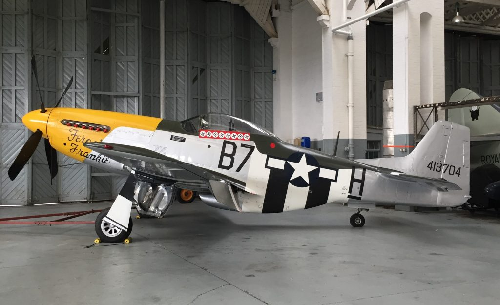 US P-51 Mustang, Imperial War Museum, Duxford, England, September 2017 (Photo: Sarah Sundin)
