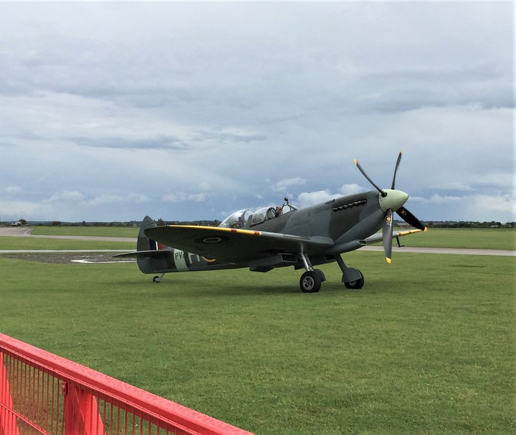 RAF Spitfire, Imperial War Musuem, Duxford, England, September 2017 (Photo: Sarah Sundin)
