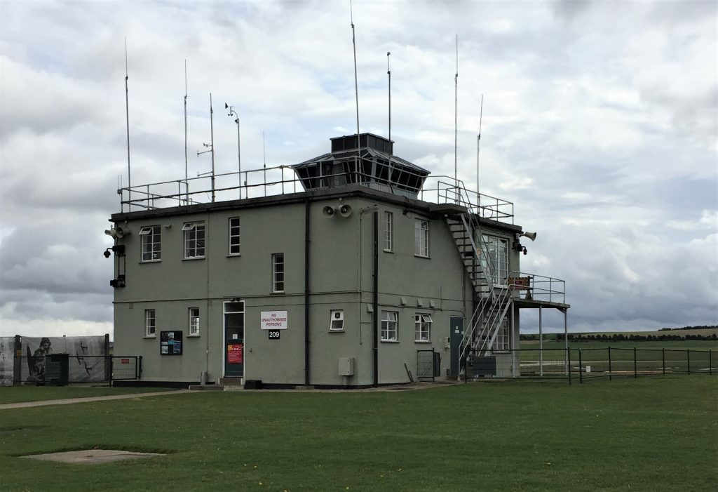 Control Tower at Duxford Airfield, Imperial War Museum, Duxford, England, September 2017 (Photo: Sarah Sundin)