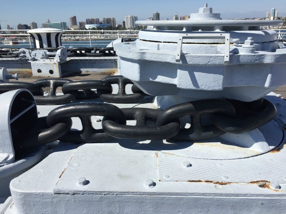 Anchor chain of the Queen Mary, Long Beach, CA, June 2017 (Photo: Sarah Sundin)