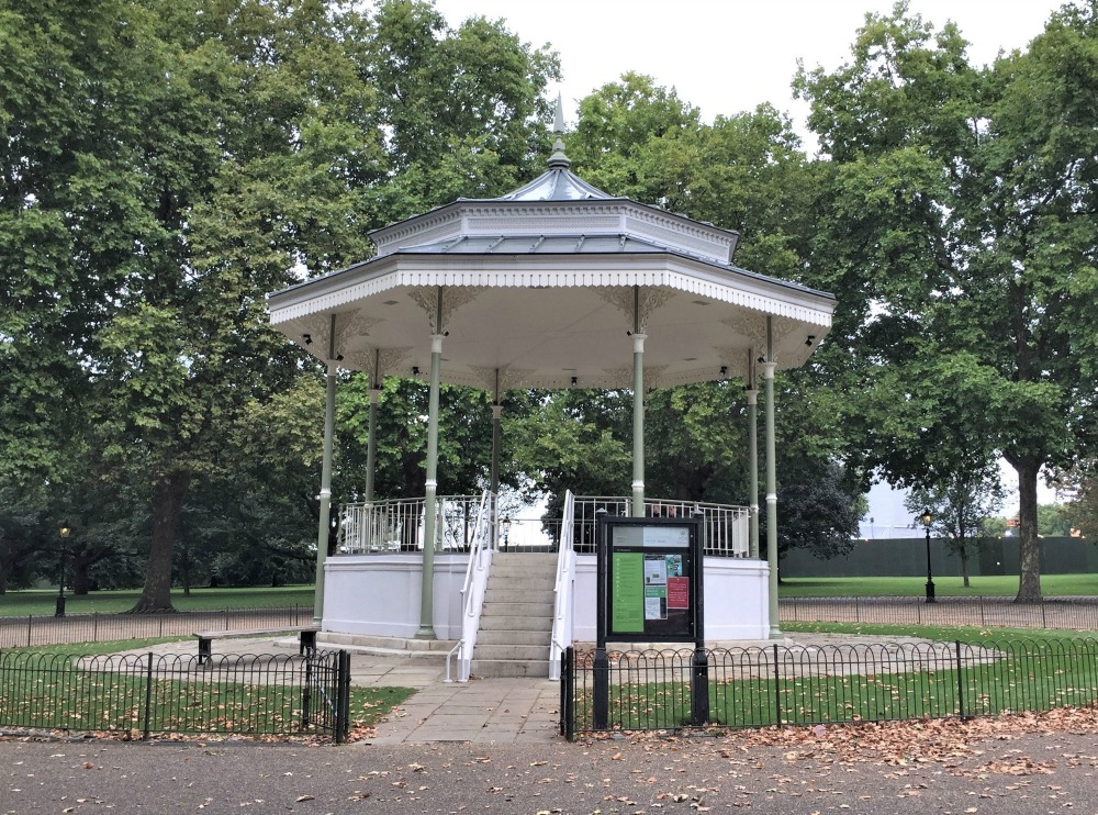 Bandstand in Hyde Park, London, September 2017 (Photo: Sarah Sundin)