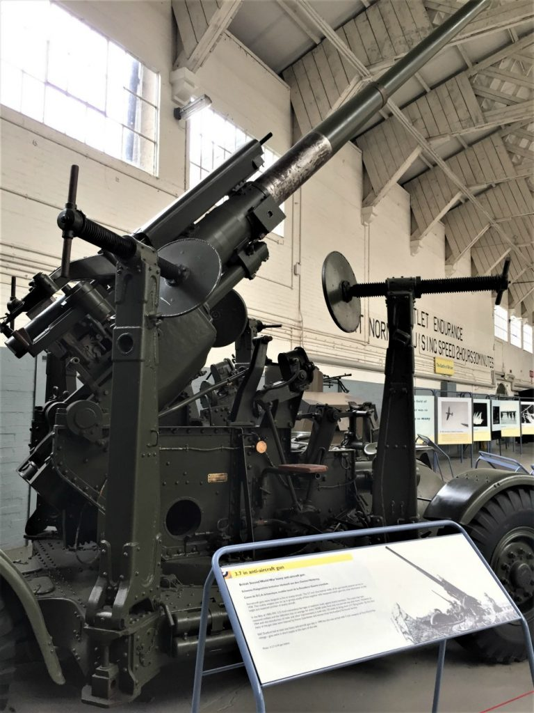 RAF antiaircraft gun, Imperial War Museum, Duxford, England, September 2017 (Photo: Sarah Sundin)