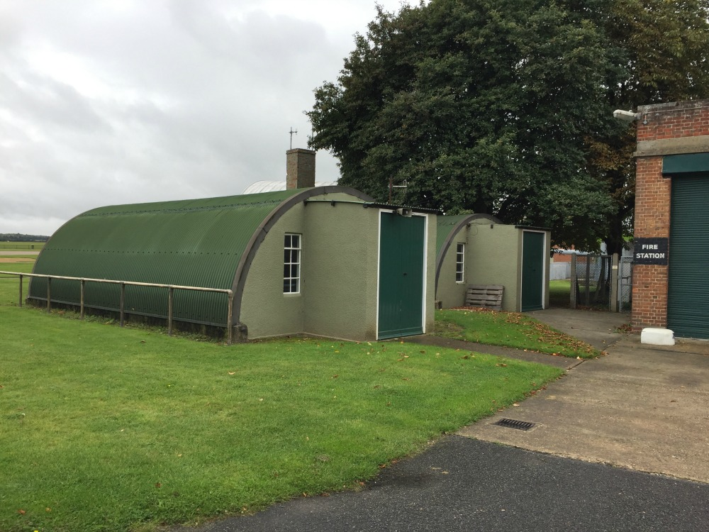 Nissen huts at Duxford Airfield, Imperial War Museum, Duxford, England, September 2017 (Photo: Sarah Sundin)