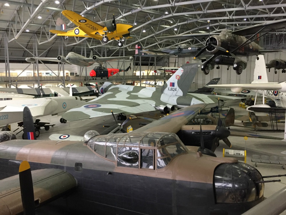 Interior of the Airspace Museum, Imperial War Museum, Duxford, England, September 2017 (Photo: Sarah Sundin)