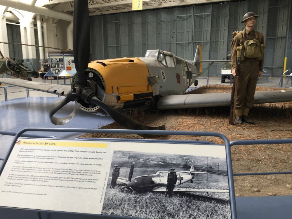 German Messerschmitt Me 109 fighter, Imperial War Museum, Duxford, England, September 2017 (Photo: Sarah Sundin)