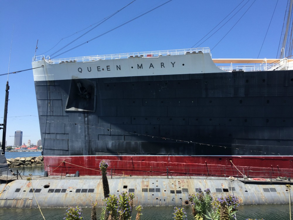 The bow of the Queen Mary, Long Beach, CA, June 2017 (Photo: Sarah Sundin)