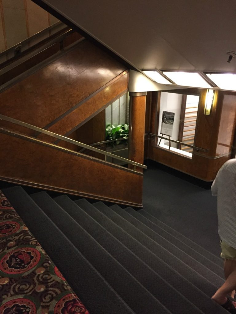Staircase in the Queen Mary. Long Beach, CA, June 2017 (Photo: Sarah Sundin)