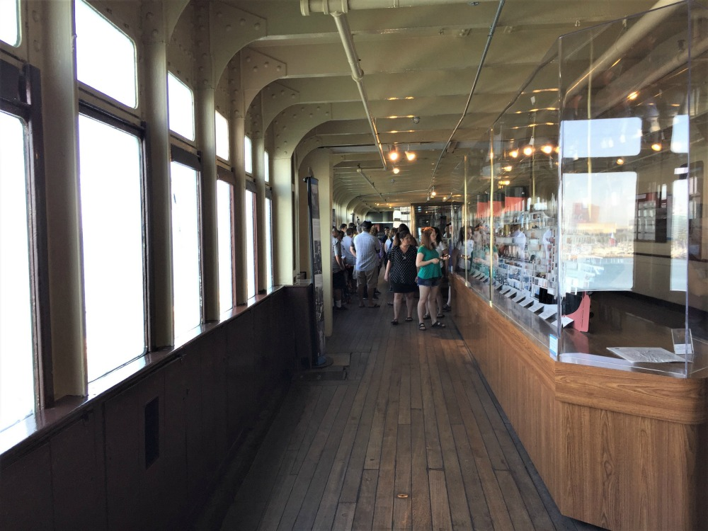 Promenade deck of the Queen Mary. Long Beach, CA, June 2017 (Photo: Sarah Sundin)
