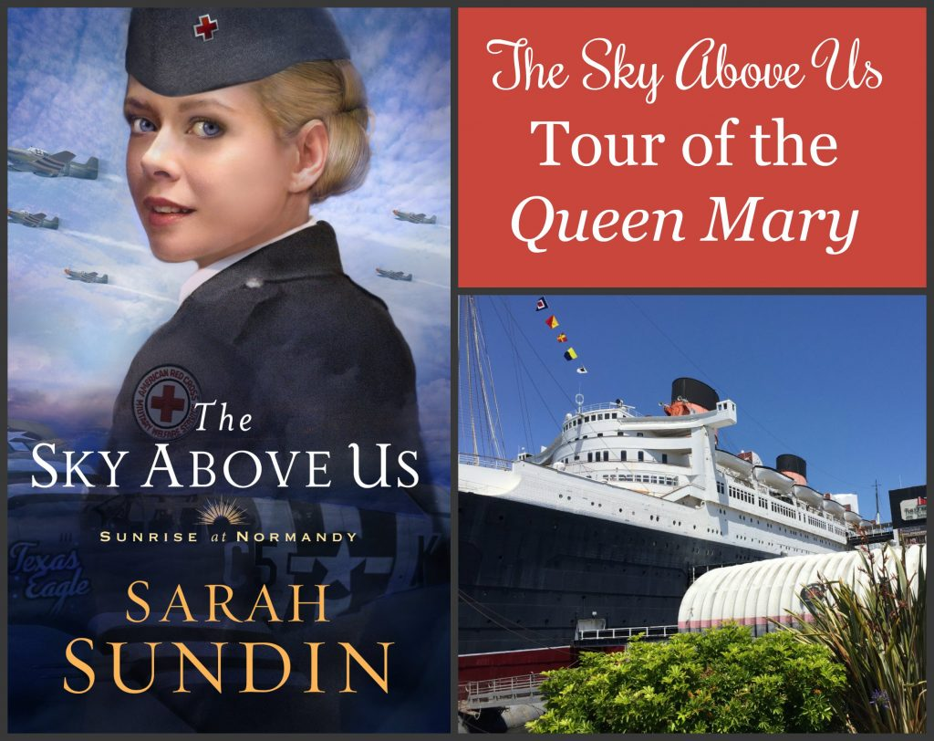 To celebrate the release of The Sky Above Us, author Sarah Sundin is showing photos from her research trips. Today--the Queen Mary, sister ship of the Queen Elizabeth